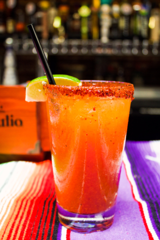 Michelada at El Chingon