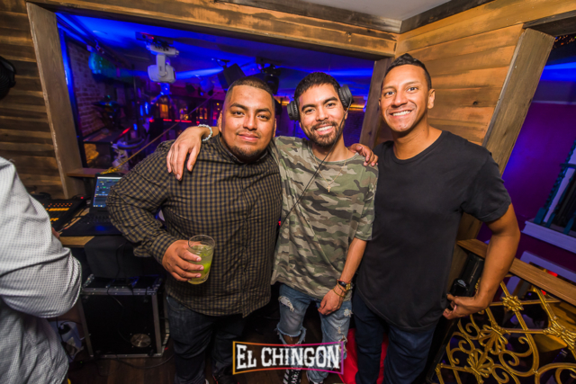 DJ Kaos with Miles Medina and Craig Smoove at El Chingon