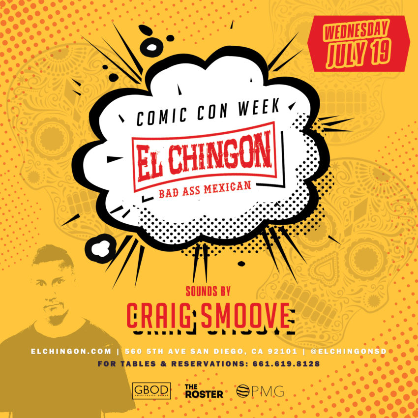 Wednesday Night of Comic-Con at El Chingon