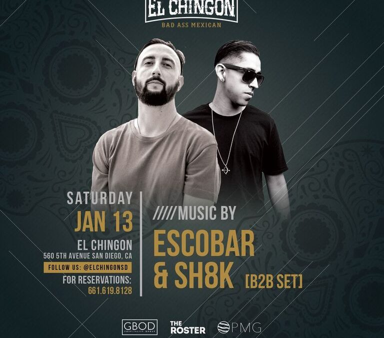 Chingon Saturdays with Escobar + SH8K